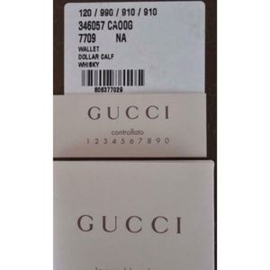 Gucci Bags - NWT Gucci Whiskey Beige  Leather Wallet 346057
